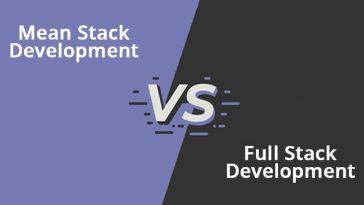 Mean Stack Development Vs Full Stack Development