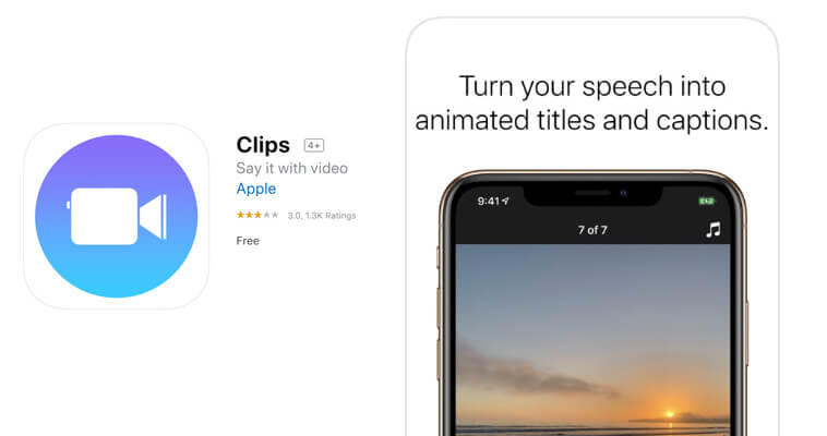 Apple Clips App for Animated Titles and Captions