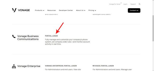 Vonage Business Login Portal