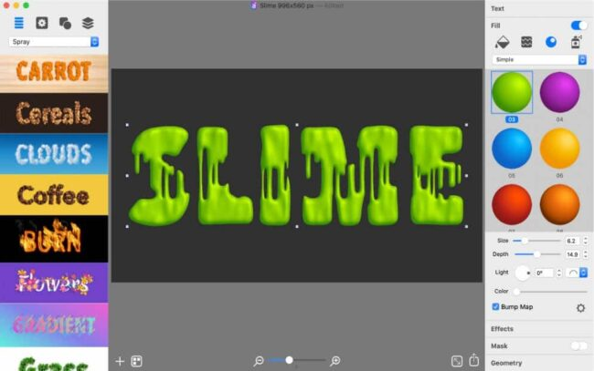 slime text effect