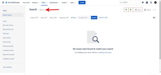 Convert Your Search Into a Jira Filter