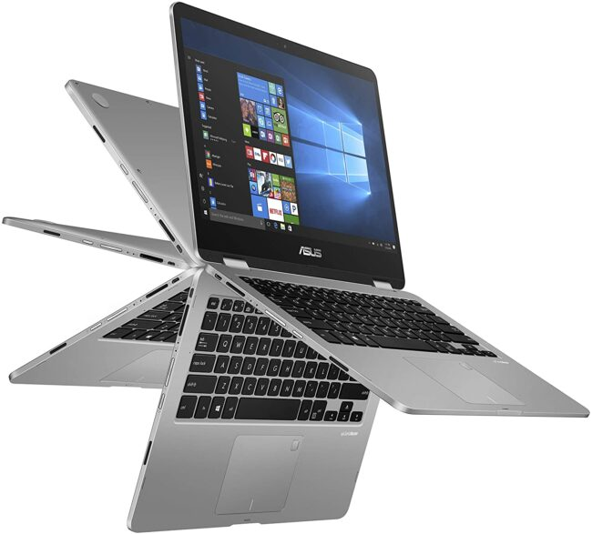 ASUS Vivobook Flip Thin and Light 2-in-1 Touchscreen Laptop