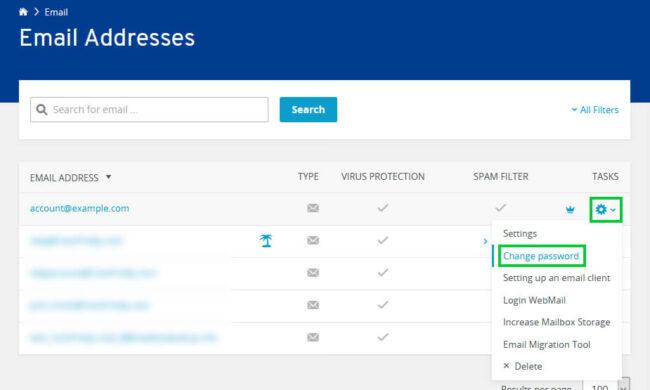 Change IONOS Webmail Account Password
