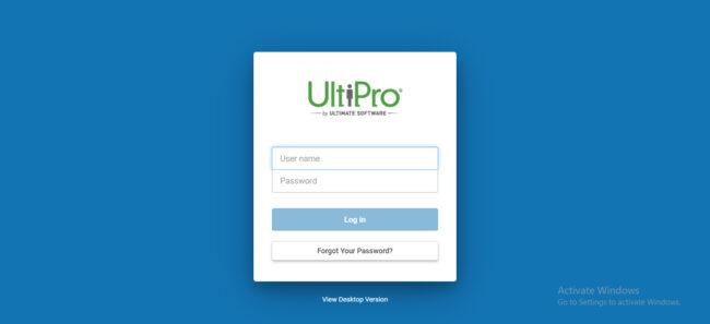 Ultipro Mobile Website