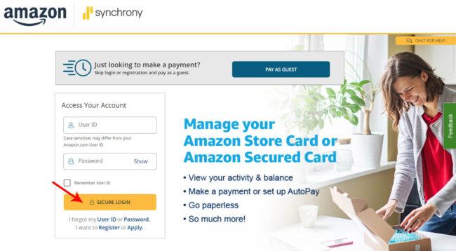 Amazon Card Login