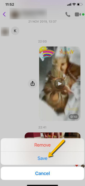Download Video from FB Messenger to iPhone