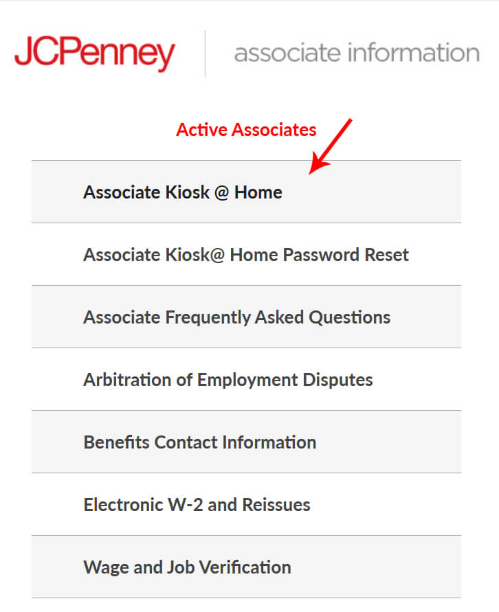 JCPenney Active Associates Information Page