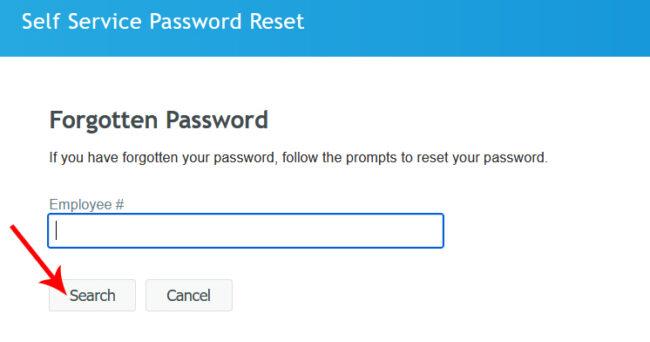 Reset JCP Associate Account Password