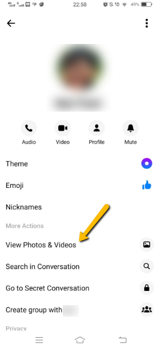 View Photos and Videos in Facebook Messenger
