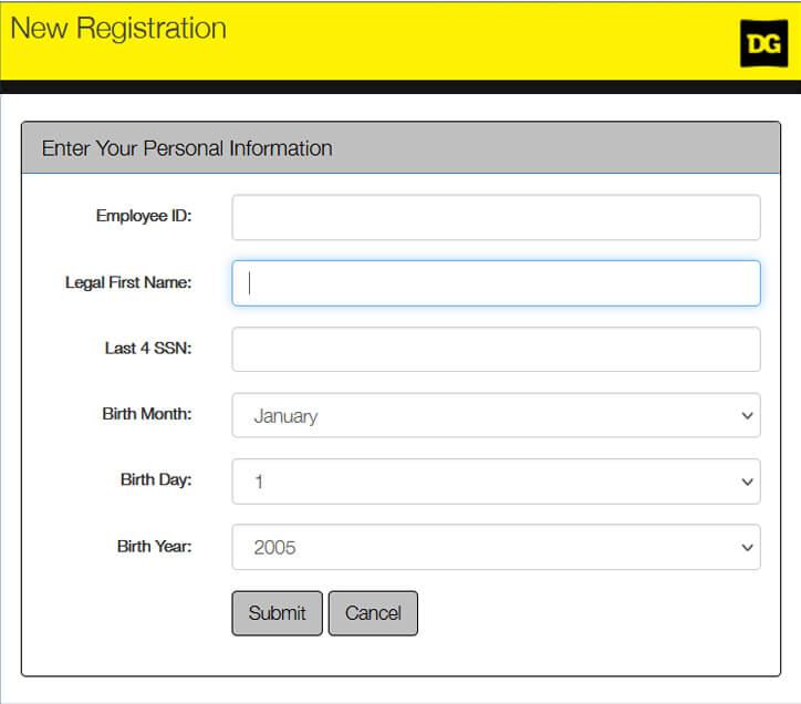 Register DGme Emplpoyee Account