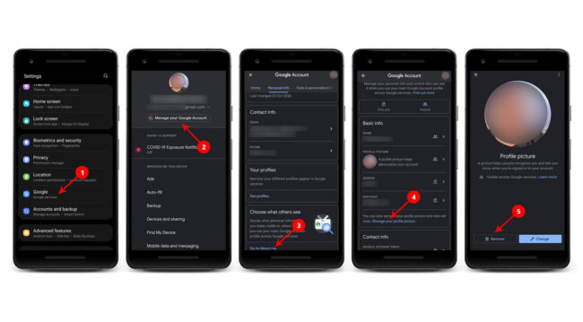 Steps to Remove Google Profile Photo on Android